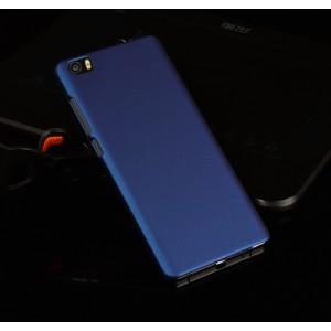 Пластиковый матовый непрозрачный чехол для Xiaomi Mi Note Синий