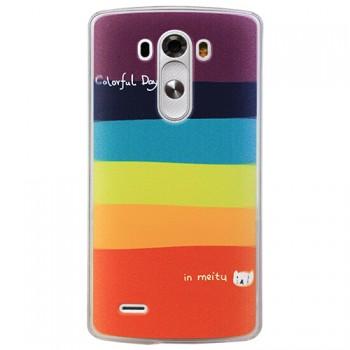 Пластиковый чехол принт радуга для LG Optimus G3
