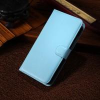 Чехол портмоне подставка с защелкой для Alcatel One Touch Pop S9 Голубой