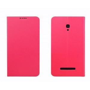 Чехол флип подставка на пластиковой основе с внутренним карманом для Alcatel One Touch Pop S9 Пурпурный