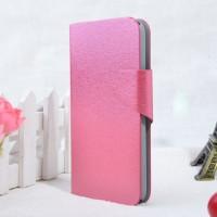 Текстурный чехол флип подставка для Alcatel One Touch Pop S9 Пурпурный