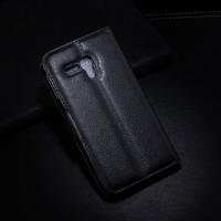 Чехол портмоне подставка с защелкой для Alcatel One Touch Pop D5 Черный