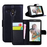 Чехол портмоне подставка с защелкой для Alcatel One Touch Pop D5