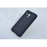 Пластиковый матовый непрозрачный чехол для Alcatel One Touch Pop D5 Черный