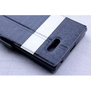 Чехол флип подставка дизайнерский с окном вызова для ZTE Blade L2