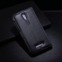 Чехол портмоне подставка с защелкой для Alcatel One Touch Pop S7 Черный
