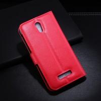 Чехол портмоне подставка с защелкой для Alcatel One Touch Pop S7 Красный