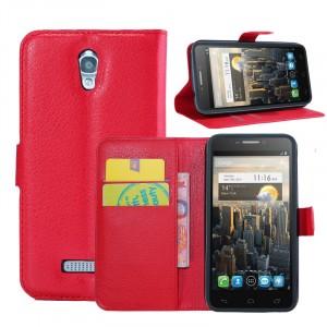 Чехол портмоне подставка с защелкой для Alcatel One Touch Pop S7