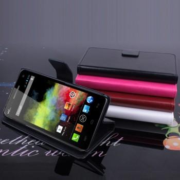 Чехол портмоне подставка на пластиковой основе с магнитной защелкой для Explay Fresh