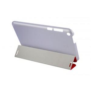 Чехол флип подставка сегментарный текстурный на пластиковой полупрозрачной основе для Asus FonePad 8