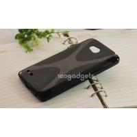 Силиконовый чехол Х для LG L80 Черный