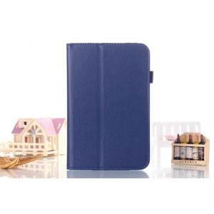 Чехол подставка с рамочной защитой серия Full Cover для Asus FonePad 8 Синий