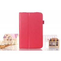 Чехол подставка с рамочной защитой серия Full Cover для Asus FonePad 8 Красный