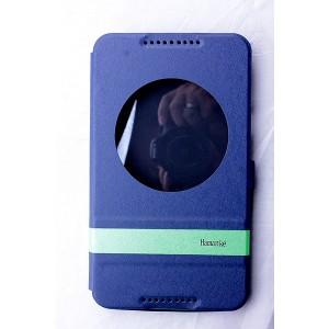 Чехол флип подставка дизайнерский на силиконовой основе с окном вызова для планшета Asus FonePad 8 Синий