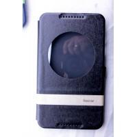 Чехол флип подставка дизайнерский на силиконовой основе с окном вызова для планшета Asus FonePad 8 Черный