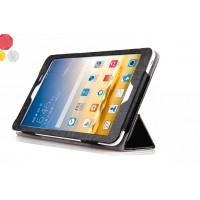 Чехол флип подставка сегментарный серия Glossy Shield для Asus FonePad 8 Черный