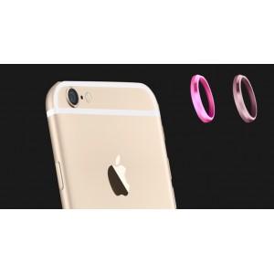 Металлическое защитное кольцо-накладка на объектив камеры для Iphone 6 Розовый
