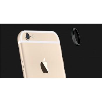 Металлическое защитное кольцо-накладка на объектив камеры для Iphone 6 Plus Черный