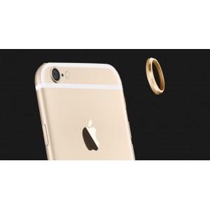 Металлическое защитное кольцо-накладка на объектив камеры для Iphone 6 Plus Бежевый