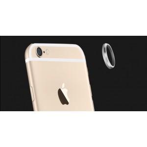 Металлическое защитное кольцо-накладка на объектив камеры для Iphone 6 Plus Серый