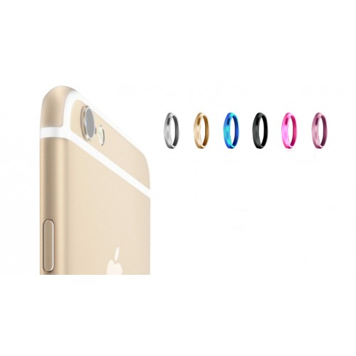 Металлическое защитное кольцо-накладка на объектив камеры для Iphone 6 Голубой