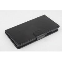 Чехол портмоне подставка на пластиковой основе с магнитной защелкой для Explay Rio Черный