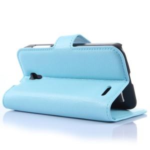 Чехол портмоне подставка с защелкой для Alcatel One Touch Pop 2 (4.5) Голубой