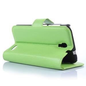 Чехол портмоне подставка с защелкой для Alcatel One Touch Pop 2 (4.5) Зеленый