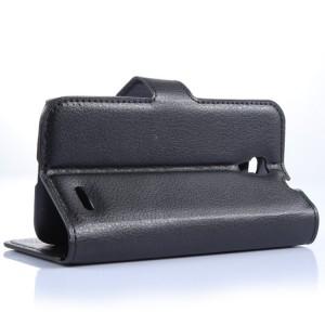 Чехол портмоне подставка с защелкой для Alcatel One Touch Pop 2 (4.5) Черный
