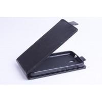 Чехол вертикальная книжка на силиконовой основе с магнитной застежкой для Alcatel One Touch Pop 2 (4.5) Черный