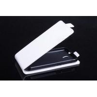 Чехол вертикальная книжка на силиконовой основе с магнитной застежкой для Alcatel One Touch Pop 2 (4.5) Белый