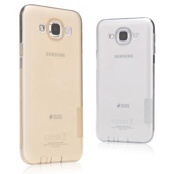 Силиконовый матовый полупрозрачный чехол для Samsung Galaxy E5