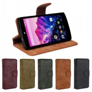 Чехол портмоне подставка с защелкой винтажный для Google LG Nexus 5