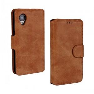 Чехол портмоне подставка с защелкой винтажный для Google LG Nexus 5 Оранжевый
