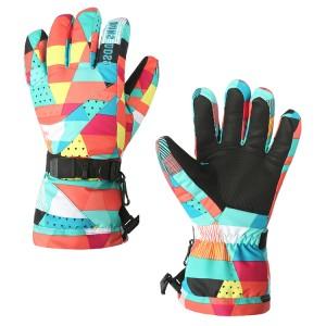 Водонепроницаемые ветрозащитные сенсорные (полноладонные) горнолыжные перчатки с ремешком размер M