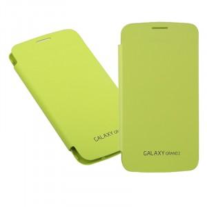 Встраиваемый чехол смарт флип серия Classics для Samsung Galaxy Grand 2 Duos Зеленый
