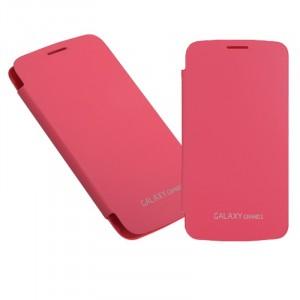 Встраиваемый чехол смарт флип серия Classics для Samsung Galaxy Grand 2 Duos Розовый