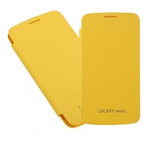 Встраиваемый чехол смарт флип серия Classics для Samsung Galaxy Grand 2 Duos Желтый