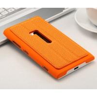 Текстурный чехол подставка для Nokia Lumia 920 Оранжевый