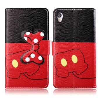 Дизайнерский чехол портмоне подставка с защелкой для Sony Xperia Z1