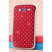 Пластиковый чехол со стразами для Samsung Galaxy Grand Красный