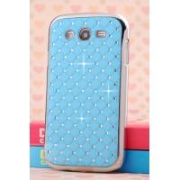 Пластиковый чехол со стразами для Samsung Galaxy Grand Голубой