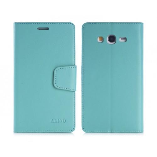 Чехол портмоне подставка на силиконовой основе с защелкой для Samsung Galaxy Grand