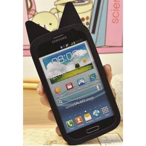 Силиконовый дизайнерский фигурный чехол для Samsung Galaxy Grand/Neo