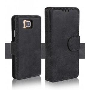 Чехол портмоне подставка винтажный с защелкой для Samsung Galaxy Alpha