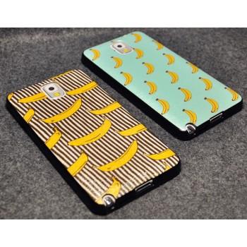Встраиваемый пластиковый матовый дизайнерский чехол с принтом Банан для Samsung Galaxy S5 (Duos)