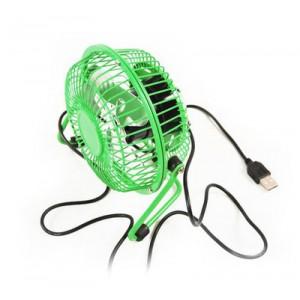 Компактный настольный бесшумный USB-вентилятор (4 дюйма, 2.5 Вт) Зеленый