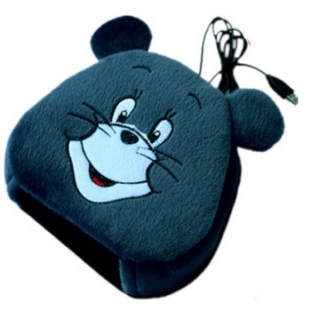 Плюшевый компьютерный коврик для мыши с функцией обогрева руки