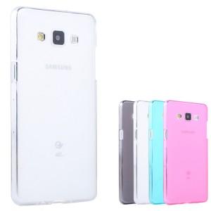 Силиконовый матовый полупрозрачный чехол для Samsung Galaxy A3