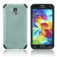 Двухкомпонентный нескользящий силиконовый чехол повышенной степени защиты для Samsung Galaxy S5 Mini Серый
